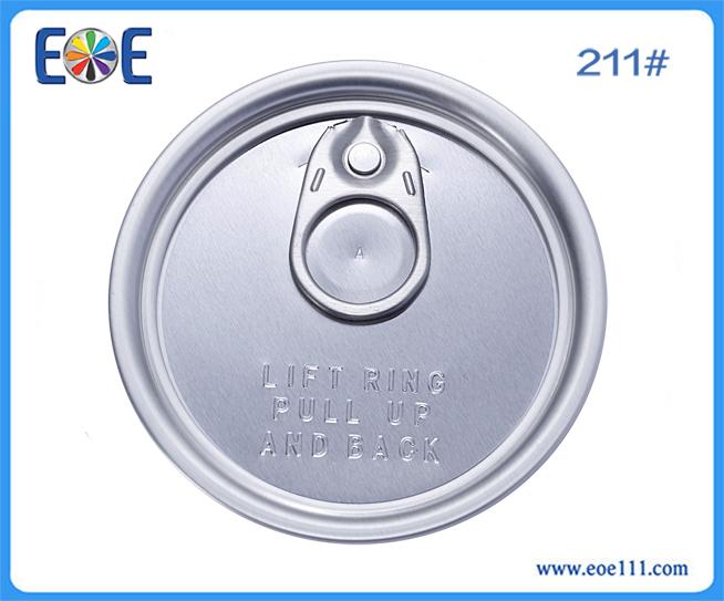 211英文易拉盖:适用于各种干货(如奶粉,咖啡粉,调味品,茶叶等),润滑油,农产品等包装领域。