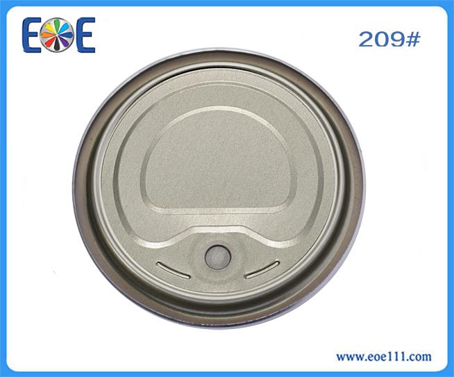 209#鲫鱼罐头盖:适用于各种罐装食品(如金枪鱼,番茄酱,肉,水果,蔬菜等),干货,工业润滑油,农产品等。