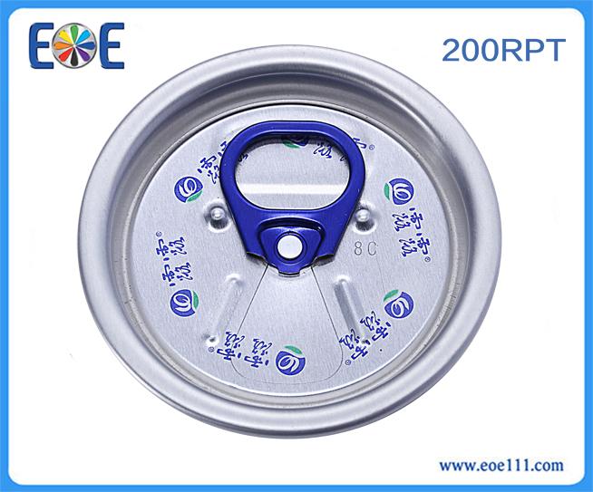 200#汽水小开口盖:适用于各种饮料,如: 果汁,碳酸饮料,功能饮料,啤酒等。