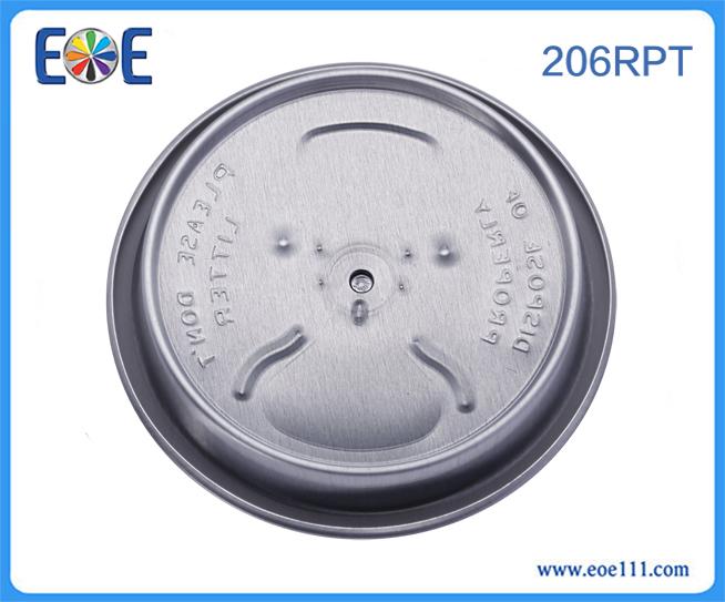 206#RPT大开口盖子:适用于各种饮料,如: 果汁,碳酸饮料,功能饮料,啤酒等。